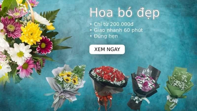 Hoa sinh nhật đẹp - Banner